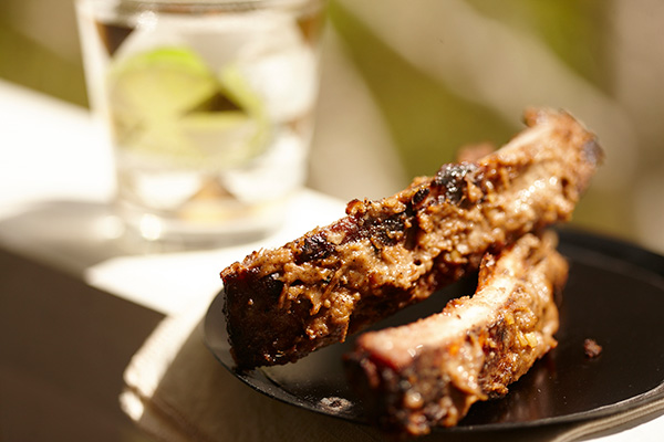 BBQ Pork Ribs with Massaman Satay - Zest Byron Bay