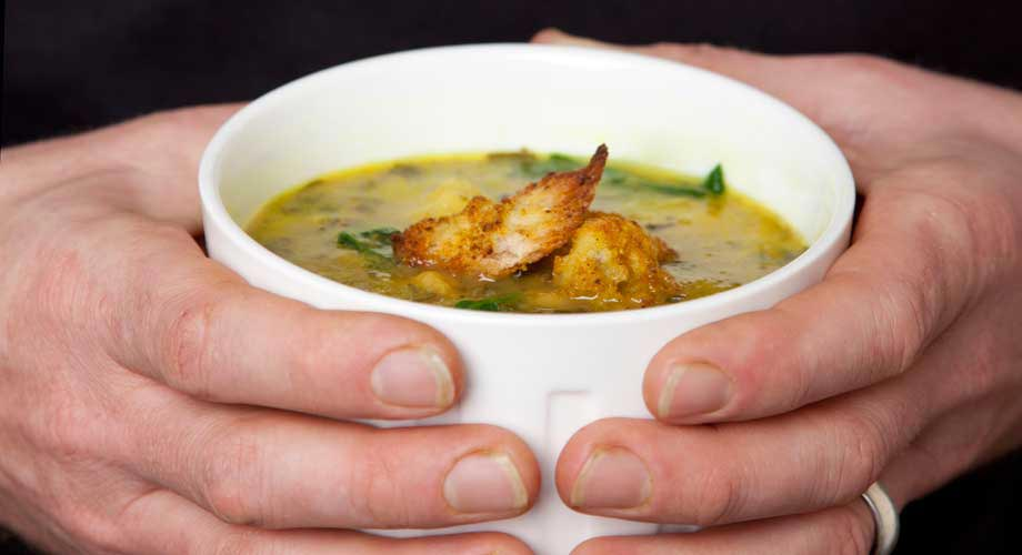 Chickpea, Leek and Spinach Soup : Zest Byron Bay