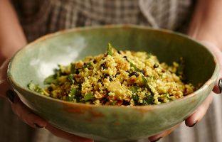Indian Roasted CauliRice Salad