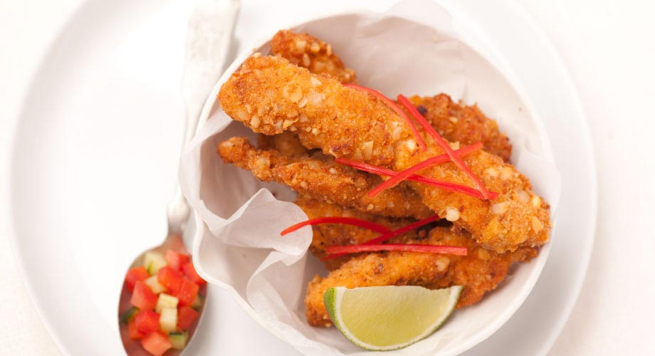 Spiced Crispy Chicken Strips - Zest Byron Bay