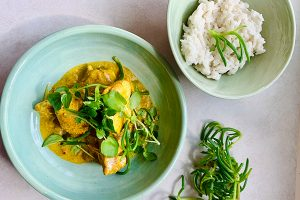 Yellow curry of shark - Chef Sam Gowing - Zest Byron Bay