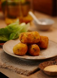 Sri Lankan Flavoured Smoked Trout Croquettes