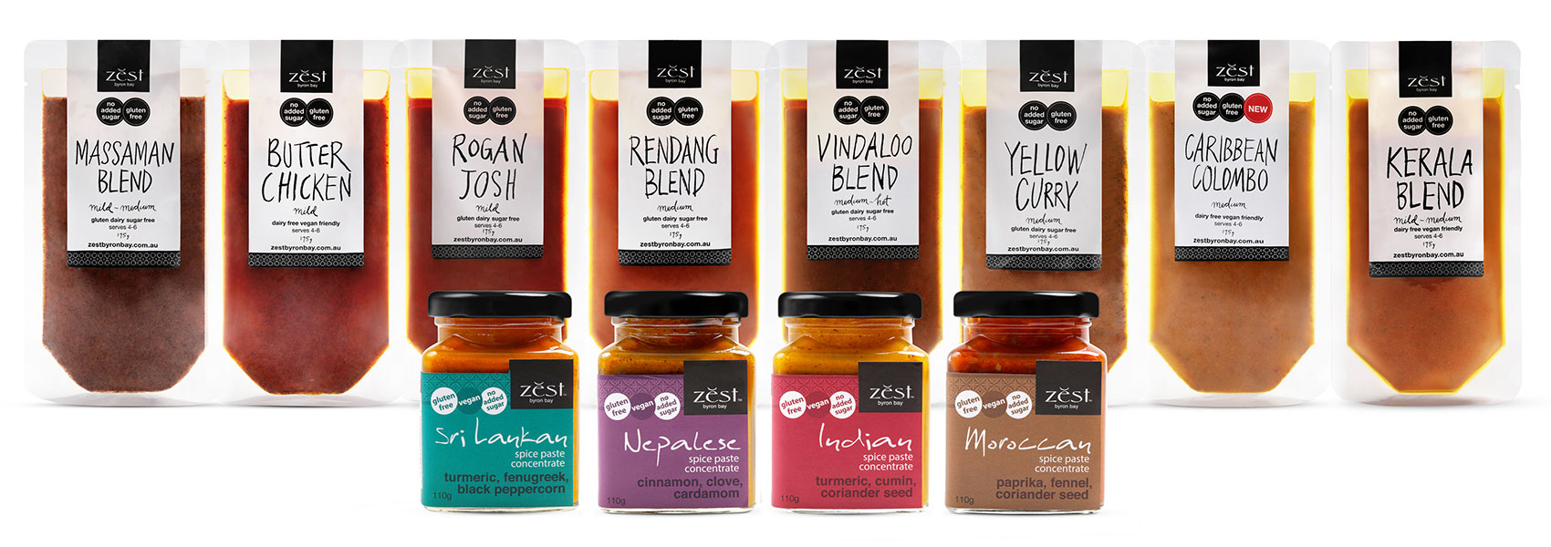 Zest Byron Bay Recipe Blends and Spice Pastes